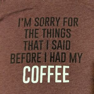 Wound up coffee shirt